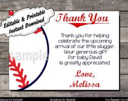 Baseball Thank You Etsy