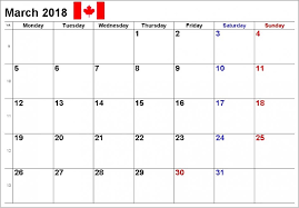 write in calendar 2018 march 2018 calendar canada with holidays printable