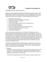 Businesslan Examples And Templates Docs 791x1024 Format For Small
