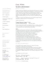 Network And Computer Systems Administrator Sample Resume Cool System Administrator Resume Example Network Administrator Resume
