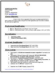 Mba Resume Template Example Template of an Excellent MBA Finance & Marketing Resume ...