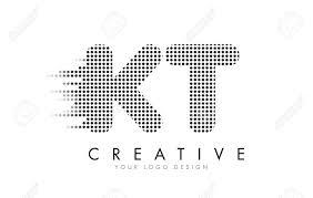 Kt Design Kt K T Letter Logo Design With Black Dots And Bubble Trails