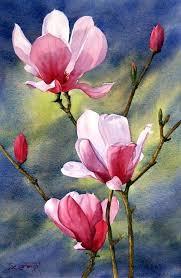 magnolia bloom 4 paintings impressionism botanical fl canvas
