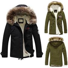 mens warm fur collar hooded parka winter thick cotton coat outwear cotton jacket nice mens jackets columbus ohio hockey from gldz09 42 02 dhgate com