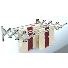 telescoping clothes rod folding drying rack wall mounted laundry telescoping clothes hanger rod