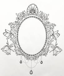 Mirror Frame Drawing Tattoo Commission Mirror Frame Drawing