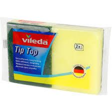 <b>Губка</b> для посуды <b>Vileda Tip Top</b> 9x6,7 см 2 шт купить по цене ...