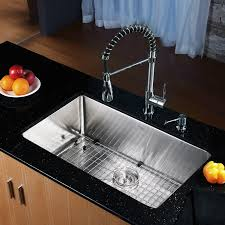 30 x 18 undermount kitchen sink with faucet and soap dispenser