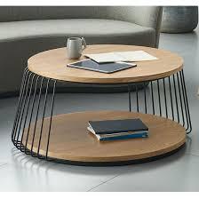 new design wooden top metal base round