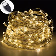 Usb Powered Outdoor Lights Us 25 48 9 Off Led String Lights 10m 33ft 100led 5v Usb Powered Outdoor Warm White Rgb Coppey Wire Christmas Festival Wedding Party Decoration In