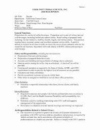 Job Description Of A Barista For Resume Barista Resume Sample Elegant Barista Job Description Resume Sample 16