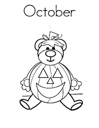 Small Picture October Coloring Pages To Print Calendar 2017