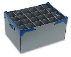 wine glass storage box. Wine Glass Storage Crate Glassware Container 24 Cells Or Item Max Width Intended Box
