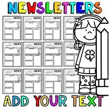 Teachers Newsletter Templates Classroom Newsletter Templates Editable Newsletters By