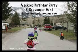 Active and Outdoor Birthday <b>Parties</b> - <b>Biking</b> Scavenger Hunt - Tales ...