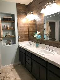 refinished bathroom cabinets with gel stain