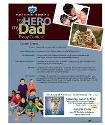 Ms B The Good News Daddy University My Hero My Dad Essay Contest