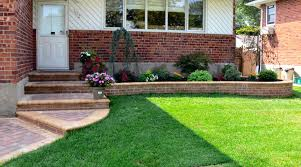 office landscaping ideas. Various Outstanding And Simple Front Yard Landscaping Idea With Artificial Grasses Brick Walls Easy To Do Ideas Office Furniture F