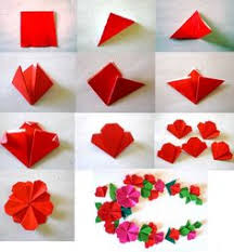 Paper Flower Origami Really Sweet Flat Origami Flower Fleur Pinterest Origami