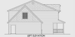 house side elevation view for 9998 two story house plans 3 bedroom house plans