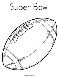 Small Picture Super Bowl Coloring Page Twisty Noodle