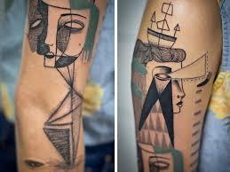 татуировки в стиле абстракционизм фото тату абстракций