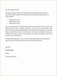appeal letter for termination of employment sample termination letter for poor performance new letters