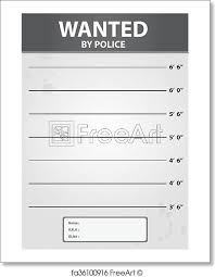 Criminal Record Template Free Art Print Of Police Criminal Photo Background Template Vector
