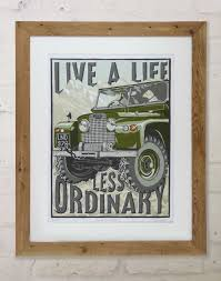 old land rover print a gift for people who love land rovers by the enlightened