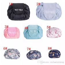vely vely lazy cosmetic bag drawstring wash bag makeup organizer storage travel cosmetic pouch makeup organizer magic toiletry bag new cosmetics