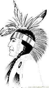 Coloring Pages Native American Profile Holidays Native American