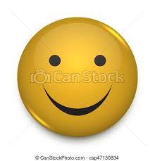 Positive Smiley Face Pin Badge Vector Template