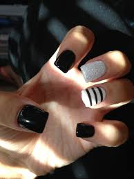 Black And White Nail Designs Acrylic Nails 40 Classy Black Nail Art Designs For Hot Women Nails