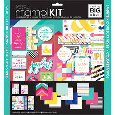 Sticker Design For Scrapbook Me My Big Ideas Mambikit Scrapbook Paper Crafting Kit Brights Theme Includes 12 Pages Of Design Paper Assorted Stickers 12 X 12 In