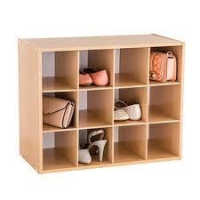 Shoe organizer furniture Flip Down The Container Store Natural 12pair Shoe Organizer The Container Store