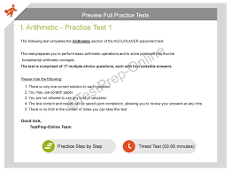 accuplacer elementary algebra practice 2018 sample questions