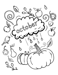 Small Picture Free October Coloring Page