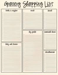 grocery list template printable nepa grocery list 2 frugal living ideas pinterest