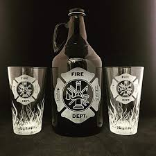 fire department beer growler fireman gift fireman gifts firefighter gifts firefighter gifts flames beer stein beer mug firefighter retirement