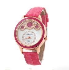 Custom <b>Quartz</b> Watches for <b>Ladies</b> - <b>Rhinestone</b>, Leather Strap