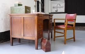 Vintage office desk Small 1940s Vintage Oak Pedestal Work Office Desk In Good Historic Order La67675 Loveantiquescom Loveantiquescom 1940s Vintage Oak Pedestal Work Office Desk In Good Historic Order