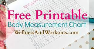 Workout Measurement Chart Free Printable Body Measurement Chart Body Measurement Tracker
