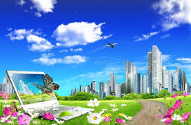 Psd Download City Beautiful Landscape Psd Download Free Download
