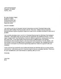 Chemical Engineering Cover Letter Chechucontreras Com