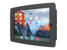 compulocks ipad enclosure space wall mount fits ipad 2 3 4 black