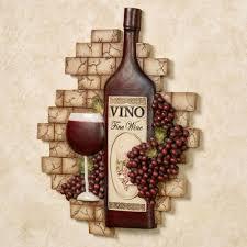 wine bottle wall decor new vino italiano wine and gs wall plaque