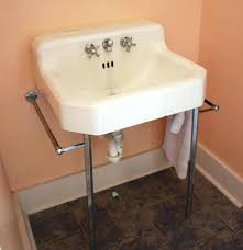 24 console sink with metal legs view larger pedestal for period bath supply company l double