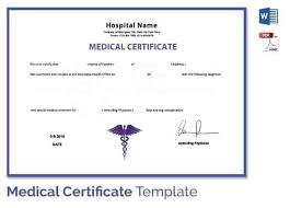 Fake Medical Certificate Template Download Unemployment