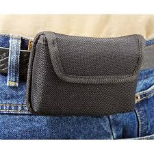 bulldog ambi cell phone nylon holster belt loop clip sub compact semi double tap to zoom