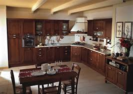 Kitchen:Wood Kitchen Cabinets Of British Country Kitchen Also Metal Stools  And Granite Countertop British